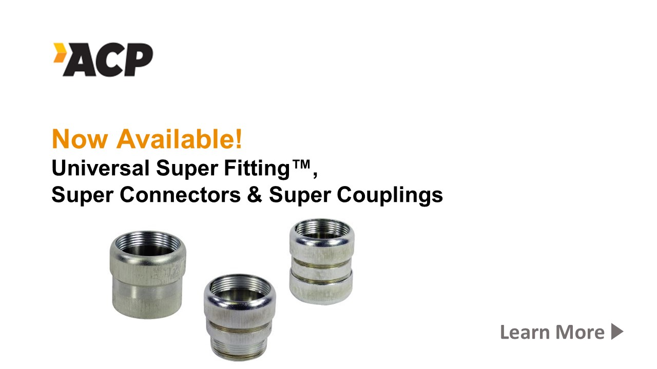 New! ACP Universal Super Fitting, Connectors & Couplings