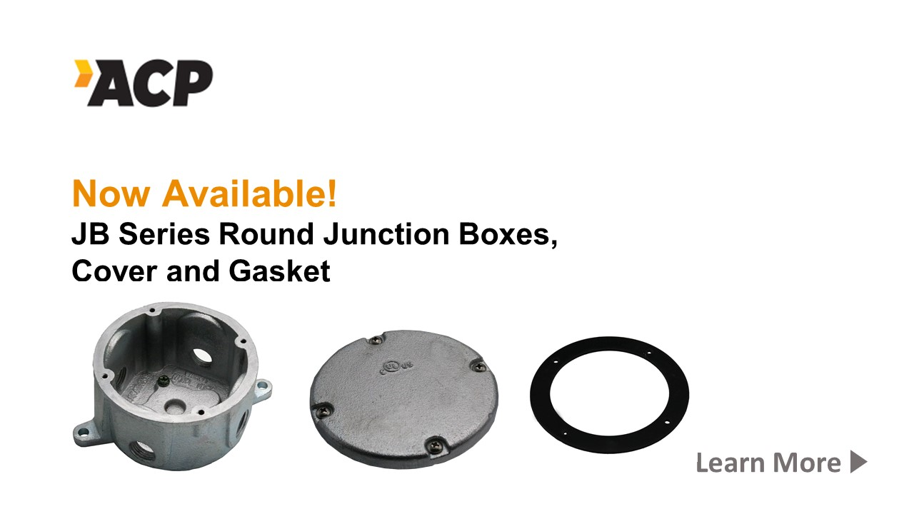 New! ACP JB Series Junction Boxes, Cover and Gasket