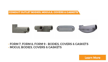 Conduit Outlet Bodies, Moguls, Covers & Gaskets