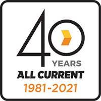 All Current 40-year anniversary logo